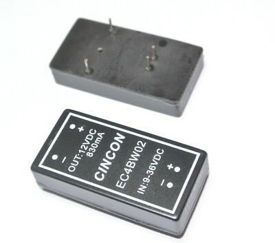 EC4BW02 CINCON IN: 9-36VDC OUT: 12VDC 830mA Isolated DC/DC Converter  [QTY=1pcs]