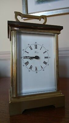 WEISS CARRIAGE CLOCK solid brass (British made)
