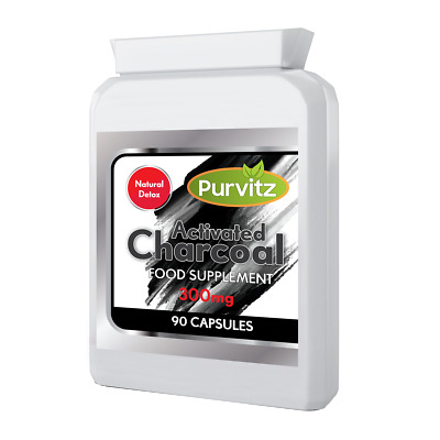 Activated Charcoal 90 Tablets/Capsules 300mg Reduce Excessive Flatulence UK