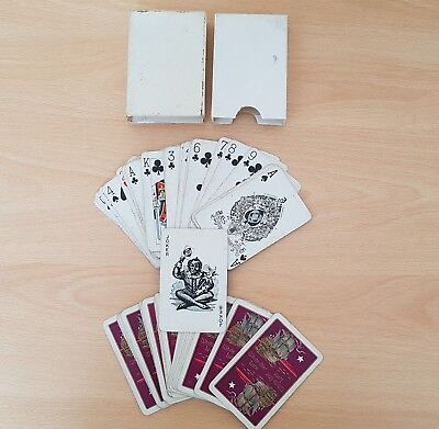 Pack of 53 original White Star Line playing cards inc 1 Joker. Titanic interest.