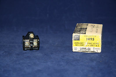 Allen-Bradley 1495-G1 Auxiliary Contact Block, N.C. Contact