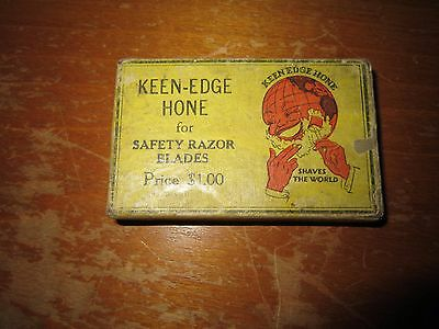 Vintage Keen Edge hone with box