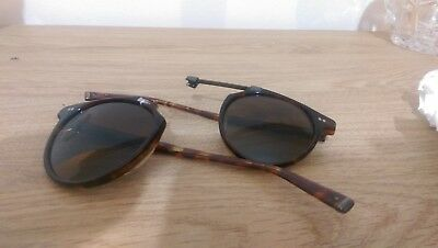 17ad604439e JOHN VARVATOS Sunglasses V602 UF Brown Tortoise 52MM Polarized for parts as  is