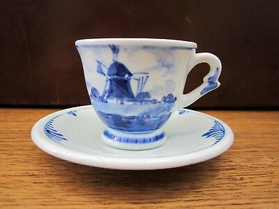 Blue And White  Delft  Cup And Saucer