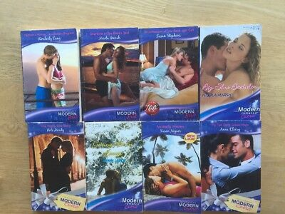 Job Lot Of 8 Mills And Boon Modern Books 100 Years Mix Heat & Extra