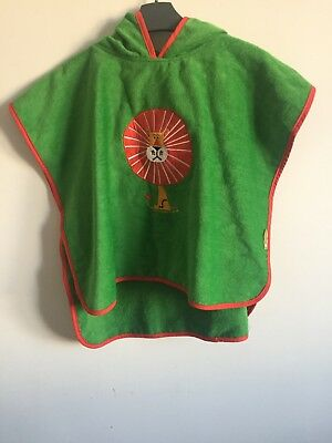 NEW Pandemonium green red lion kids boys girls poncho hooded towel one size