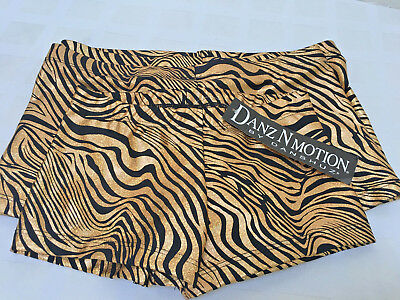 Booty Shorts Black/gold -Dance-Cheer-Gymnastics Nwt $23
