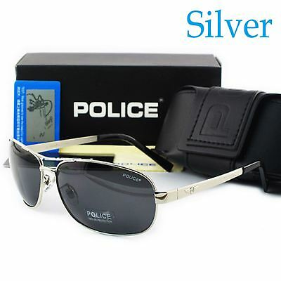 2018 Brand New Police Men's Polarized Driving Aviator Outdoor Sunglasses AS