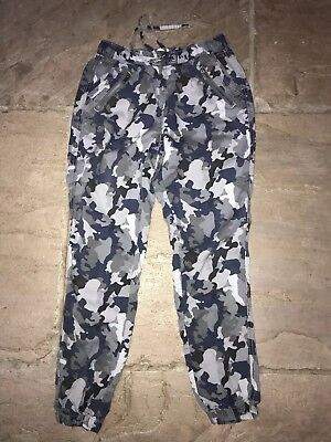 Next Camouflage Combat Jogging Bottoms Size 8R Blues And Greys