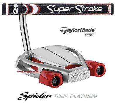 TaylorMade Spider Tour Platinum Putter SS GTR 1.0 Grip - Closeout Price