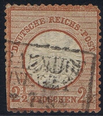 German Reich 1872 Mi 21a 2 1/2Gr Eagle with large shield definitive used