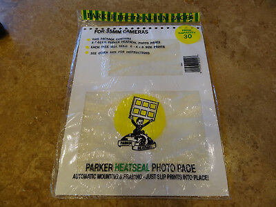Parker Heat Seal Photo Album 5 White Refill Pages Holding 30 4x6 Prints Total