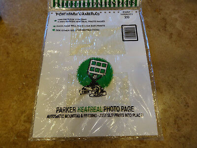 Parker Heat Seal Photo Album 5 White Refill Pages Holding 20 4x6 Prints Total