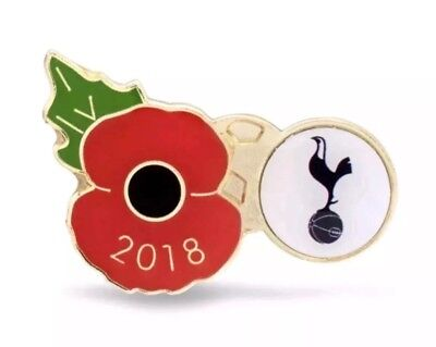 Tottenham Hotspur 2018 Poppy Pin Lapel 100 Years From End of WW1 (1918-2018) NEW