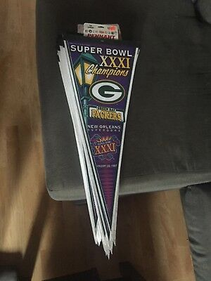 39ac4560ae8 Vintage 1997 NFL Super Bowl XXXI Champion Pennant Green Bay Packers   New  Orlean