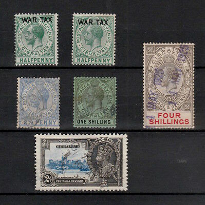 Gibraltar 1918-35 Selection Of Mint & Used King George V Stamps To 4 Shillings