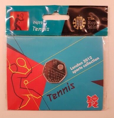 London 2012 Olympics Sports Collection - Tennis - The Royal Mint - 50p Coin