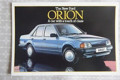 Ford Orion - manufacturer's promotional postcard, 1986 - collectable item