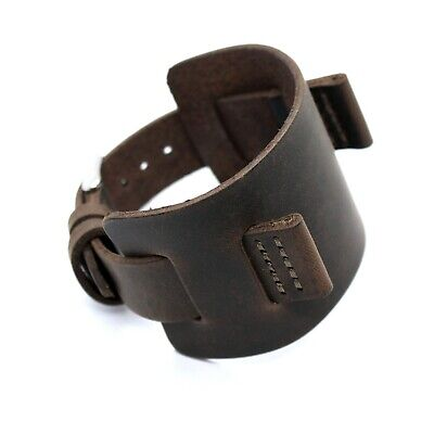 Grunge Explorer genuine leather watchband 22 mm lugs olive-brown in crazy horse