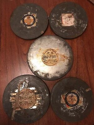 "Job Lot 5 Very Rare 16mm Cine Film Movies ""Wild Bill Hickok"" Episodes Long Reels"