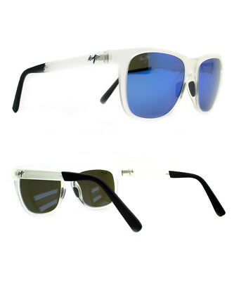 a7292133c5d96 NEW Maui Jim Sunglasses Tail Slide Frosted Crystal Blue Polarized B740-05CM