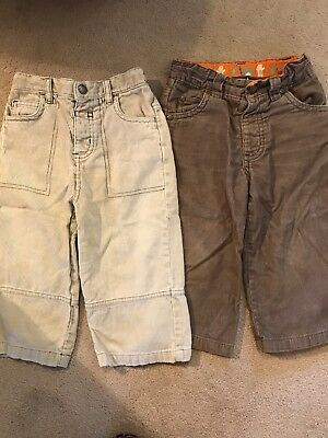 Two Pairs Of Boys Cord Trousers Age 18-24 Months From Tu