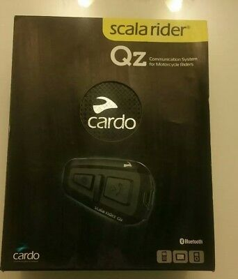 Cardo Scala Rider QZ Motorcycle Bluetooth Helmet Headset for Calls, GPS & Music