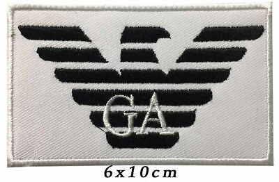 Embroidered  G A ARMANI  Iron On / Sew On Patches Badges
