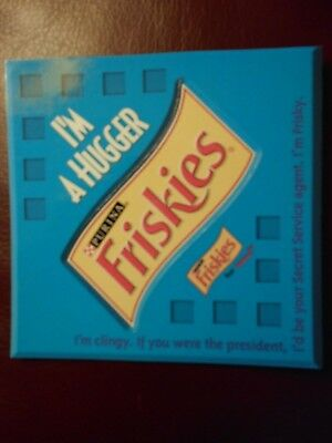 "Vintage Purina Friskies Cat Food Magnet ""I'm A Hugger"""