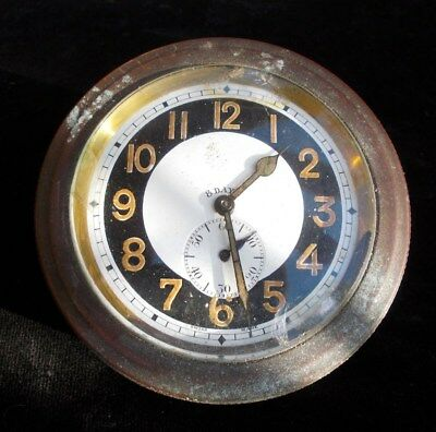 Antique Vintage Swiss 8 Day Ship Car Dash Clock?  Spares or repair