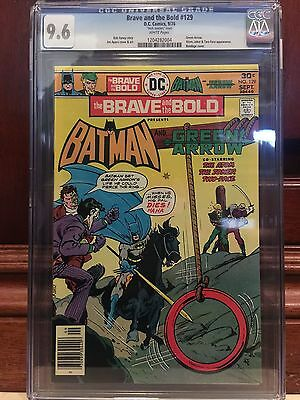 "Brave And The Bold #129 Cgc 9.6 Nm+ ""mark Jewelers"" Insert Joker Cover"