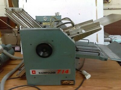 Baumfolder 714 14X20. Table Top Vacuum Feed. Will Ship. Works.