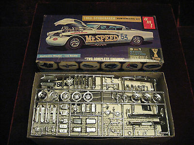 MIB 1964 VTG '53 Studebaker Customizing Model/Kit 2053 AMT USA 3in1Time Capsule!