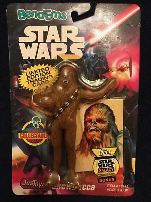 Star Wars Bend Ems Chewbacca Action Figure On Card Topps Trading Card