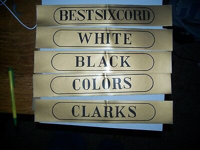 Clarks Spool Cabinet Decals