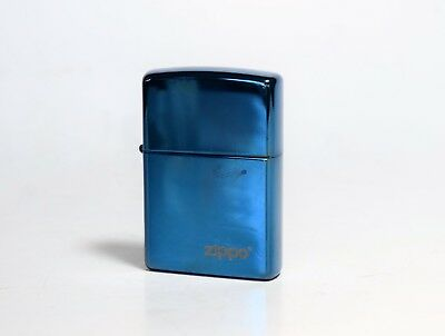 Sapphire Blue Gun Metal ZIPPO Lighter Made in U.S.A Windproof Elegant Men