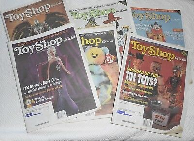 "Lot of 6 TOY SHOP Magazine Issues  1997  11""x14"" Krause Publication  Price Guide"