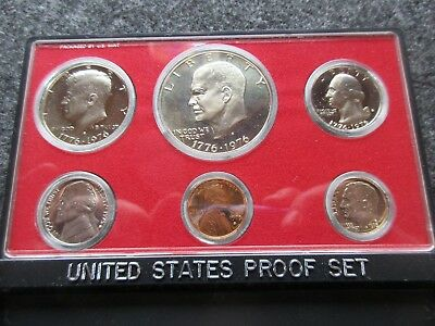 1975 6-Coin Proof Set, Mint Sealed In Mint Holder, Proof Coins, Day-02857