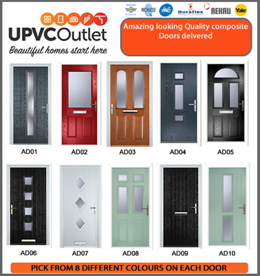 Free Delivery Composite Doors - Lower Price Brand New - 10 Year Guarantee