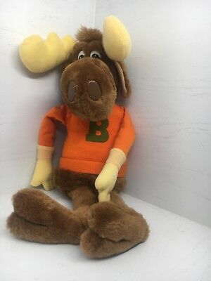 """Vintage 1982 Bullwinkle Plush stuffed doll Wallace Berrie & Co Toy About 16"""""""