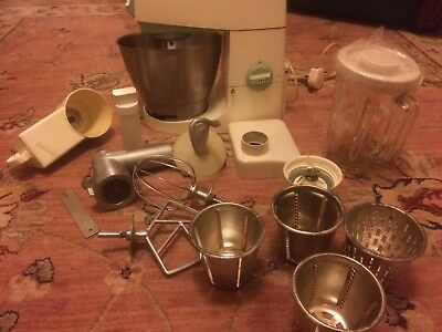 Vintage Kenwood Chef Mixer Model A786 White/Light Blue