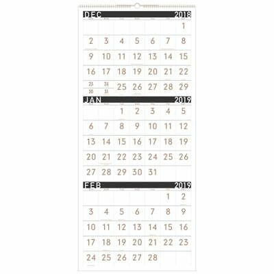 """AT-A-GLANCE® Contemporary 14-Month 3-Month Reference Monthly Wall Calendar, 12"""""""
