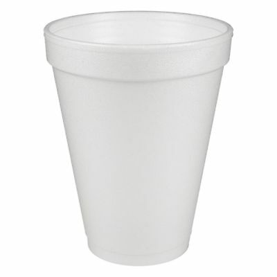 Dart® Insulated Foam Drinking Cups, White, 12 Oz, Box Of 1,000