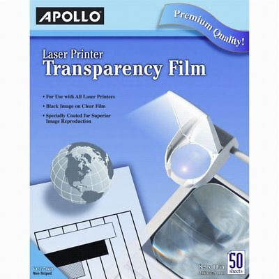"Apollo® Laser Printer Transparency Film, 8 1/2"" x 11"", Box Of 50 Sheets"