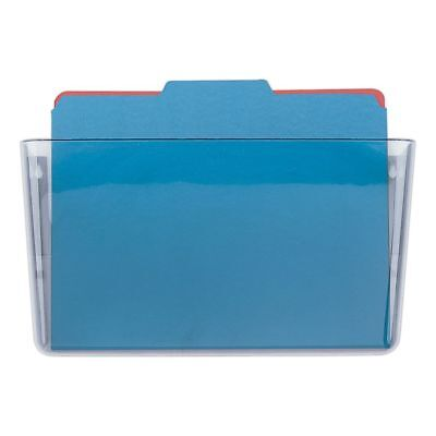 OIC® Single Pocket Wall Files, Letter Size, Clear
