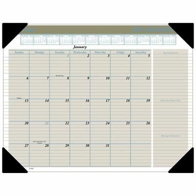 "AT-A-GLANCE® Executive Monthly Desk Pad, 21 3/4"" x 17"", January to December 2019"