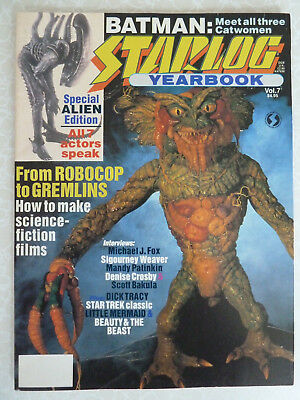Starlog Yearbook - Vol 7 1990 - Batman - Alien - Robocop - Gremlins- Star Trek