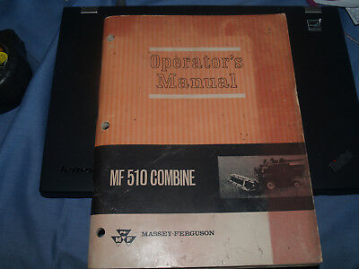 massey-ferguson operator's manual mf 510 combine, over 125 pages