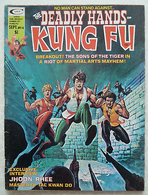 The Deadly Hands of Kung Fu Issue #16 1975 - Jhoon Rhee Tae Kwan Do