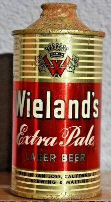 Sharp Wieland's LOW PROFILE Cone Top Beer Can, San Jose, CA